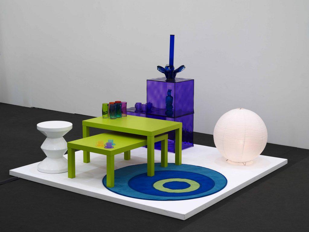 Matthew Darbyshire, Untitled: Furniture Island No. 3, 2009. Installation
