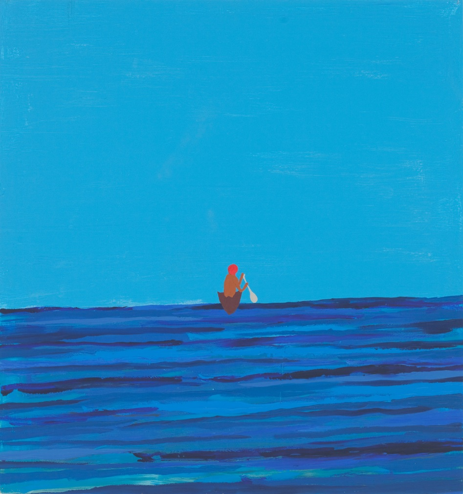 Untitled (Painting of a Man Leaving in Boat)